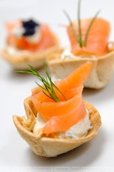 Fingerfood-Tartletts mit Lachs