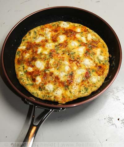 Rezept mit Bild für Frittata mit Chorizo und Ziegenkäse