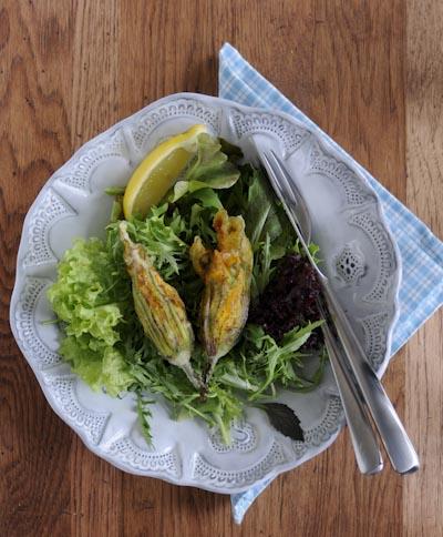 Rezept mit Bild für gefüllte Zucchiniblüten