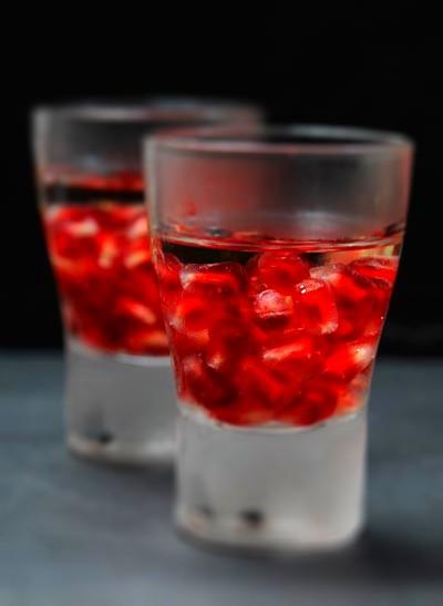 Rezept mit Bild für Tequila-Granatapfel-Shot