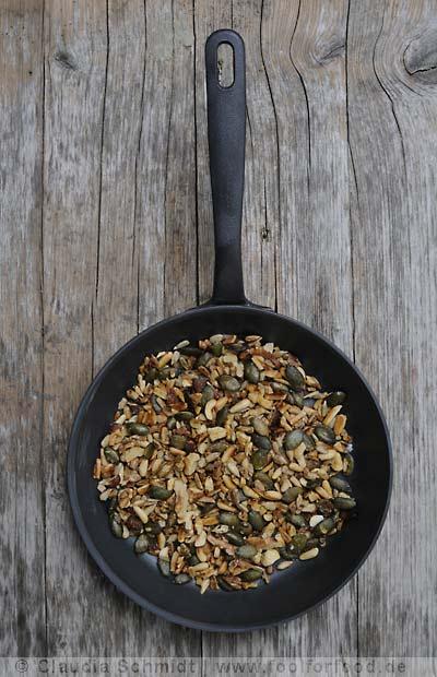 Rezept mit Bild für karamellisierte Nüsse