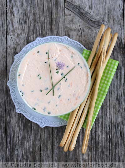 Rezept mit Bild für Lachs-Frischkäsecreme