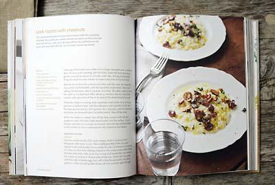Rezept mit Bild für Lauch Risotto mit gerösteten Maroni