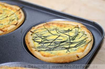 Rezept mit Bild für Ricotta-Mönchsbart-Tarteletts