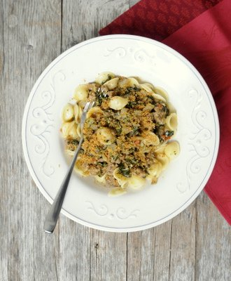 Rezept mit Bild für Orecchiette mit Salsiccia und Mangold