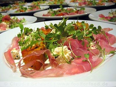 Kürbis mit Ricotta und Ham