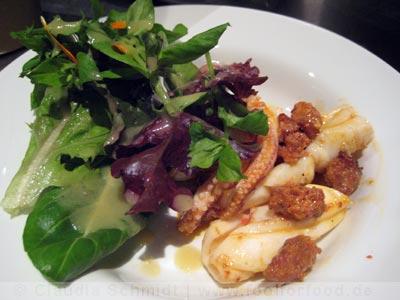 Tintenfisch mit Chorizo