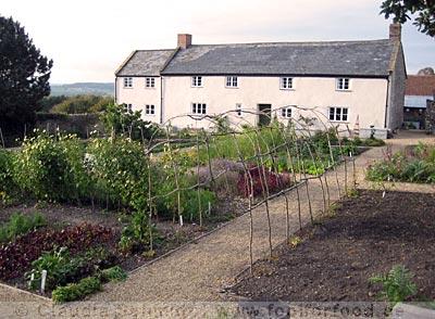 Das Farmhaus mit dem Küchengarten