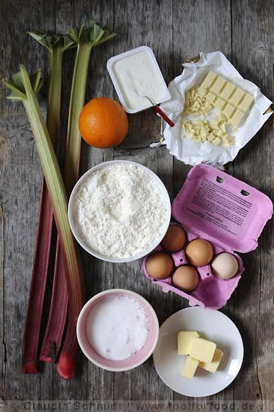 Rezept mit Bild für Rhabarberkuchen