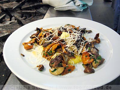 Polenta mit Pilzen im River Café in London