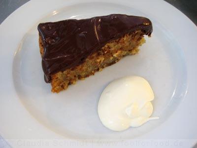 River Café - der Walnuss-Mandelkuchen mit Schokolade
