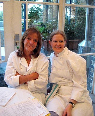 Ruthie Rogers und ich im River Café in London