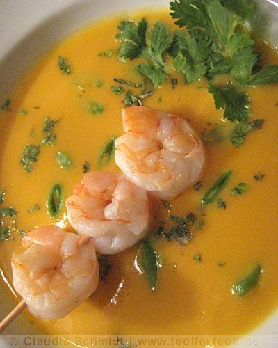 Rezept mit Bild für Süßkartoffel-Ingwer-Suppe