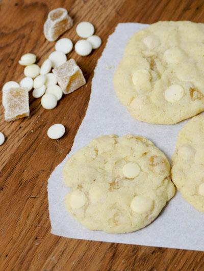 Rezept mit Bild für Cookies mit weißer Schokolade und Ingwer