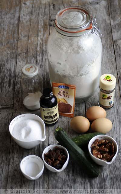 Rezept mit Bild für Zucchinikuchen